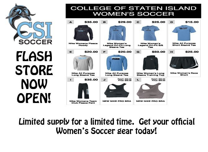 WOMEN S SOCCER FLASH STORE NOW OPEN! - College of Staten Island ... d90bf304a6fb